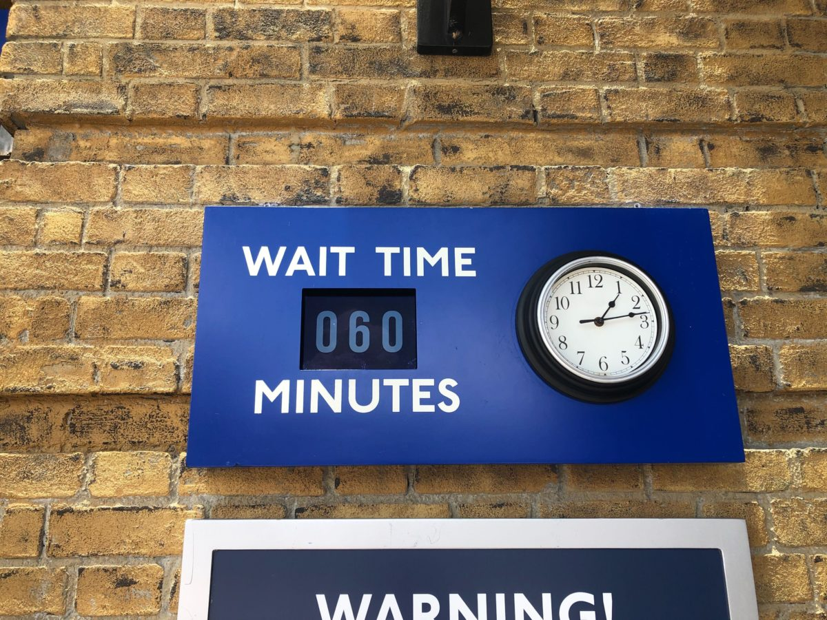 King's Cross Wait Time Sign