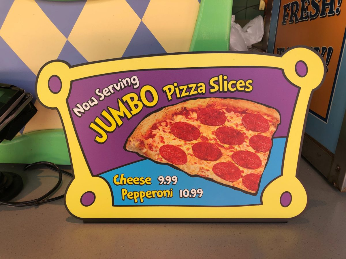 jumbo pizza slices moose juice goose juice