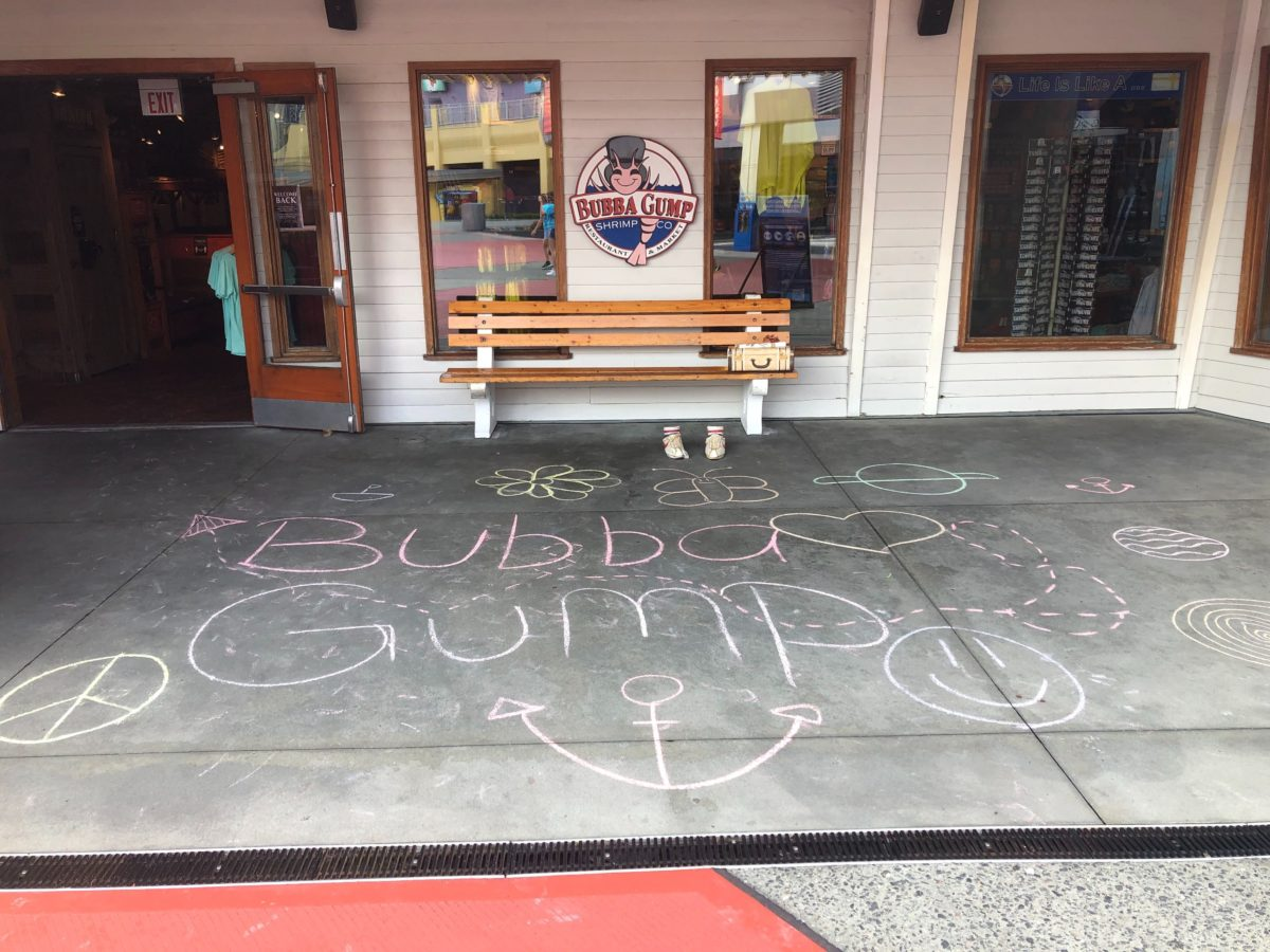 Bubba Gump CityWalk Orlando Chalk Art