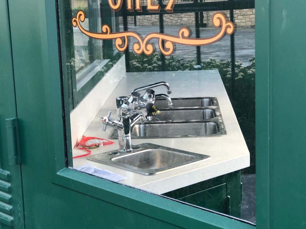 Sinks in Central Park Crepes
