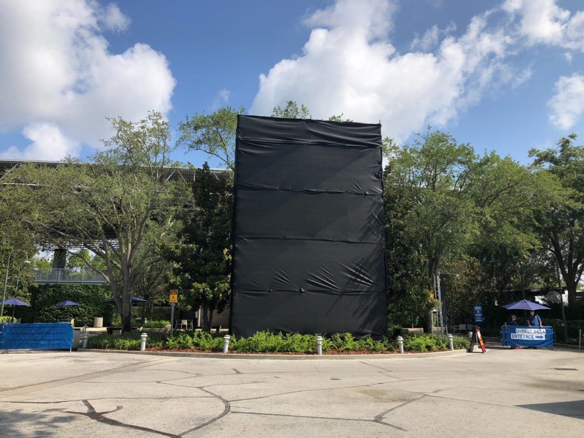Large structure covered near Fear Factor Live.