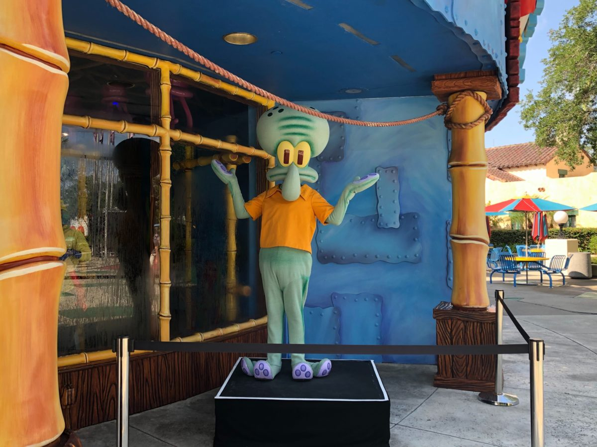 Squidward Socially Distanced Meet and Greet Universal Studios Florida