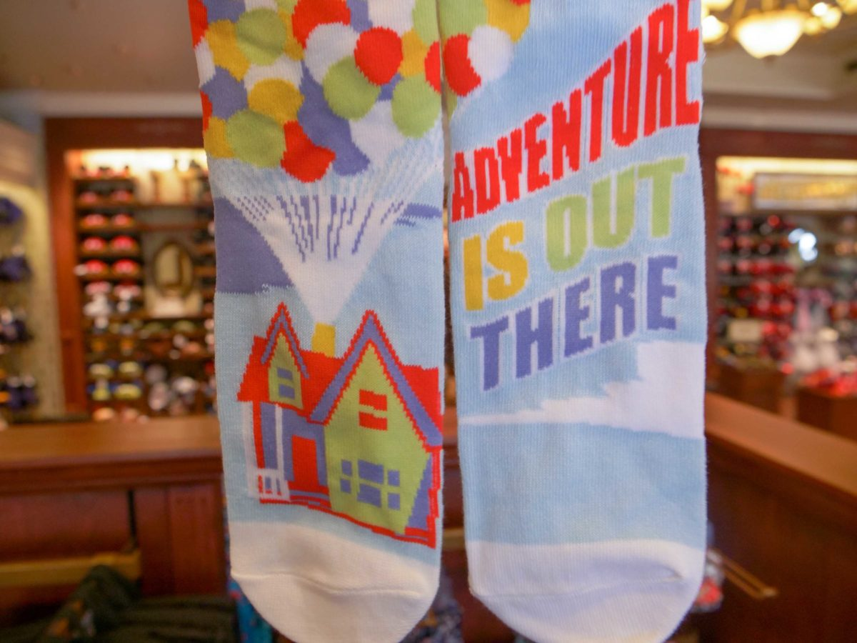 Adventure is Out There Up Socks - $14.99