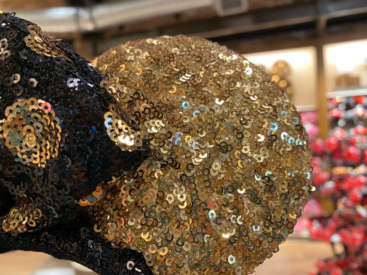 black gold minnie ears