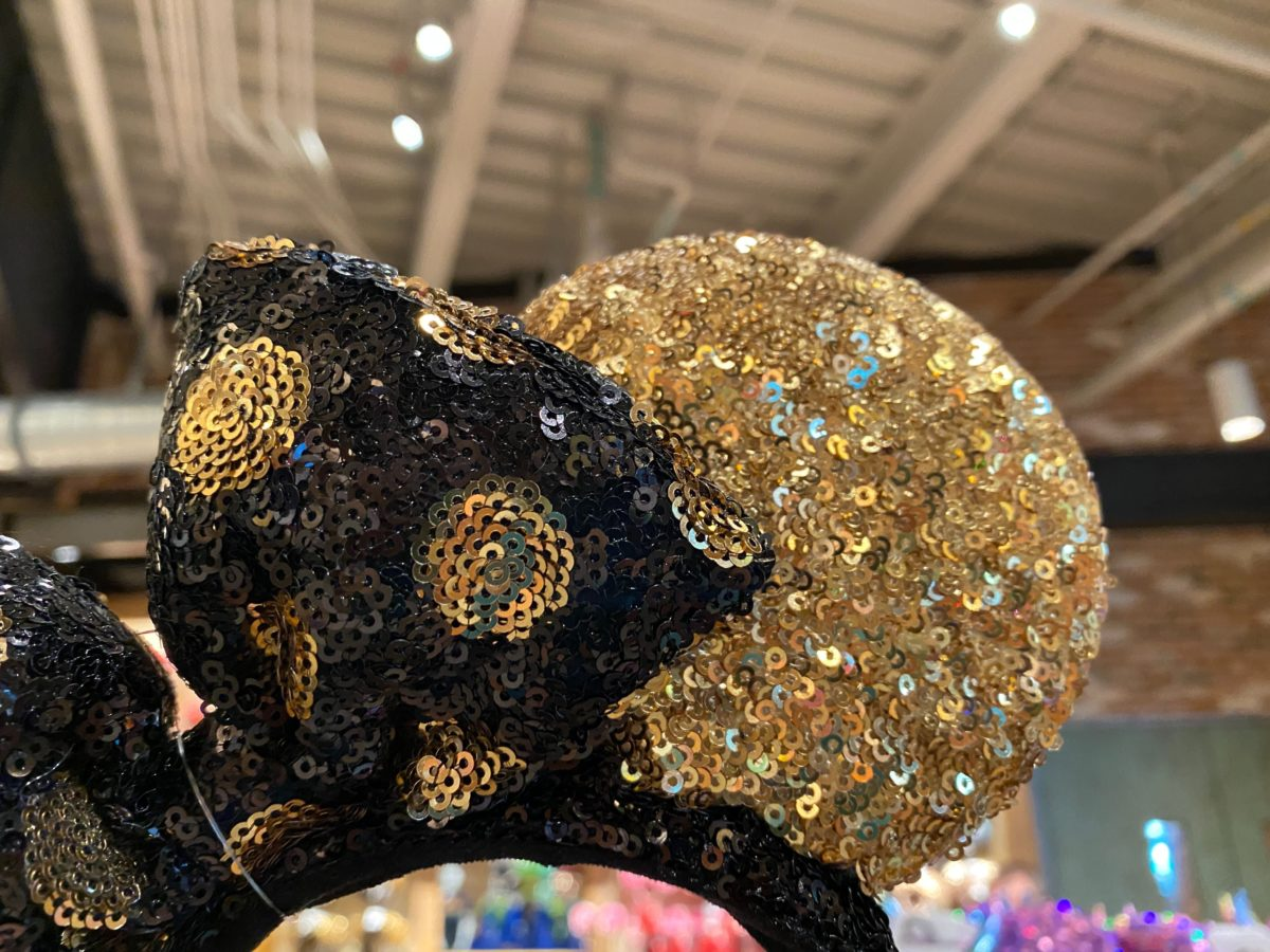 black gold minnie ears