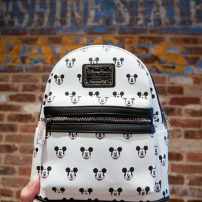 black white loungefly backpack mickey