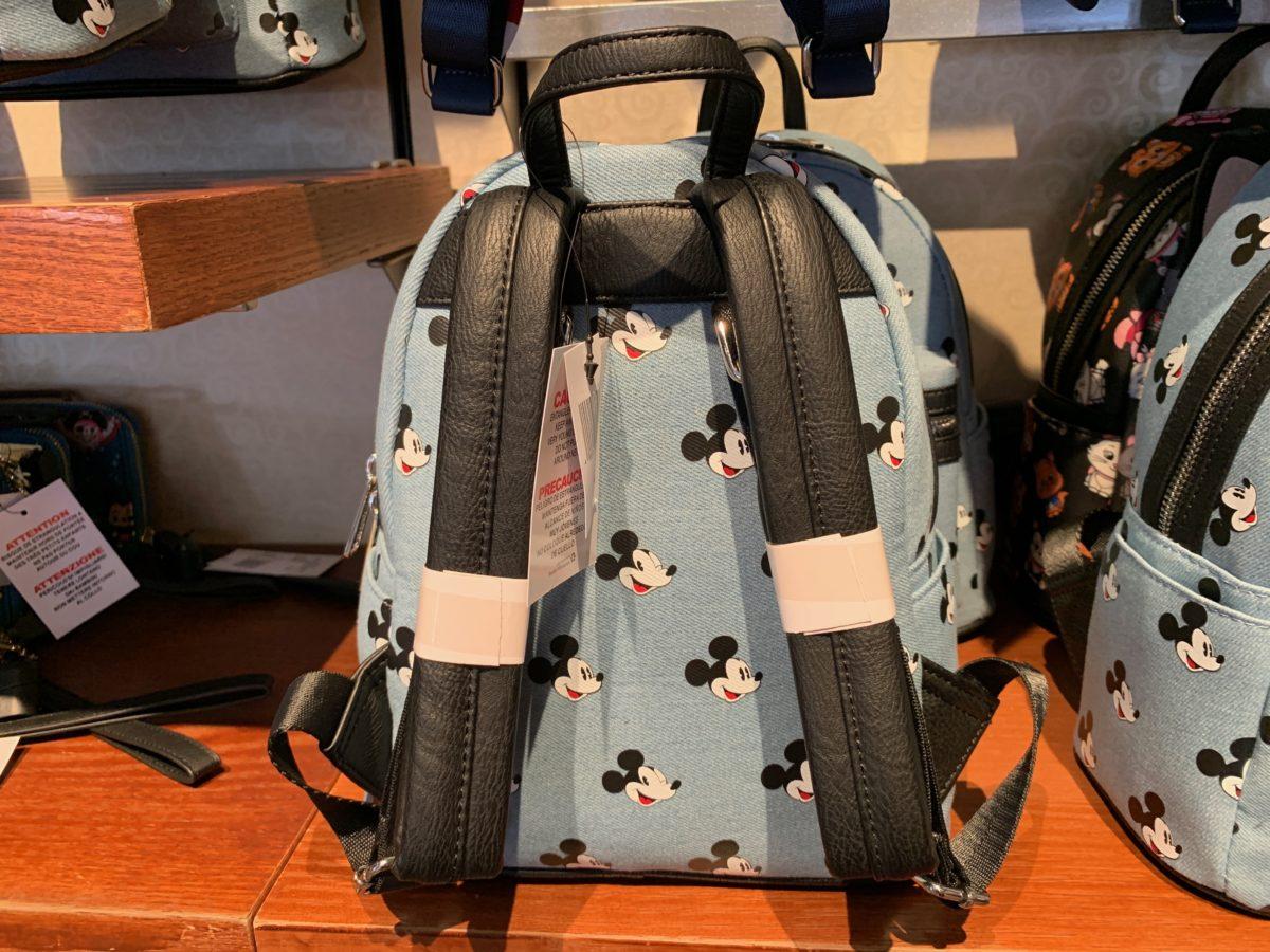 Denim Mickey Loungefly Mini Backpack - $75.00
