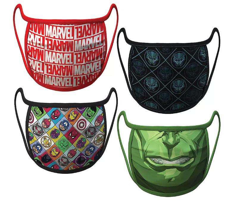 Adult Extra Large – Marvel Cloth Face Masks 4-Pack Set – Pre-Order - $19.99