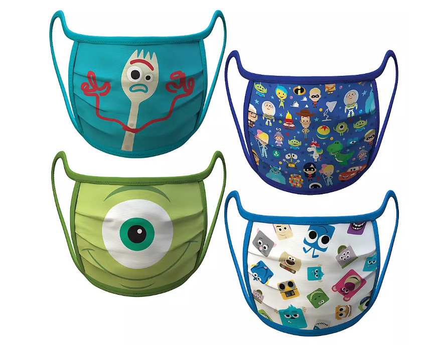 Adult Extra Large – PIXAR Cloth Face Masks 4-Pack Set – Pre-Order - $19.99