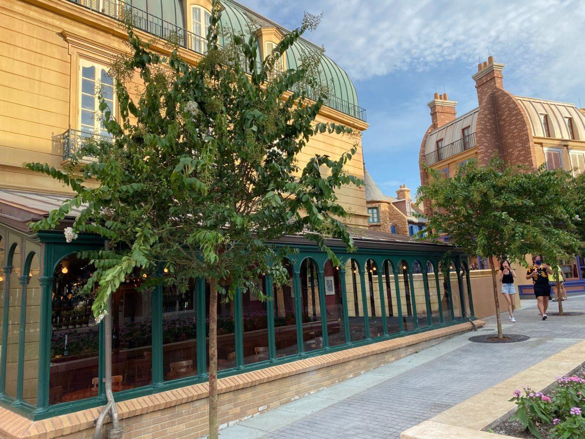 epcot france pavilion new trees