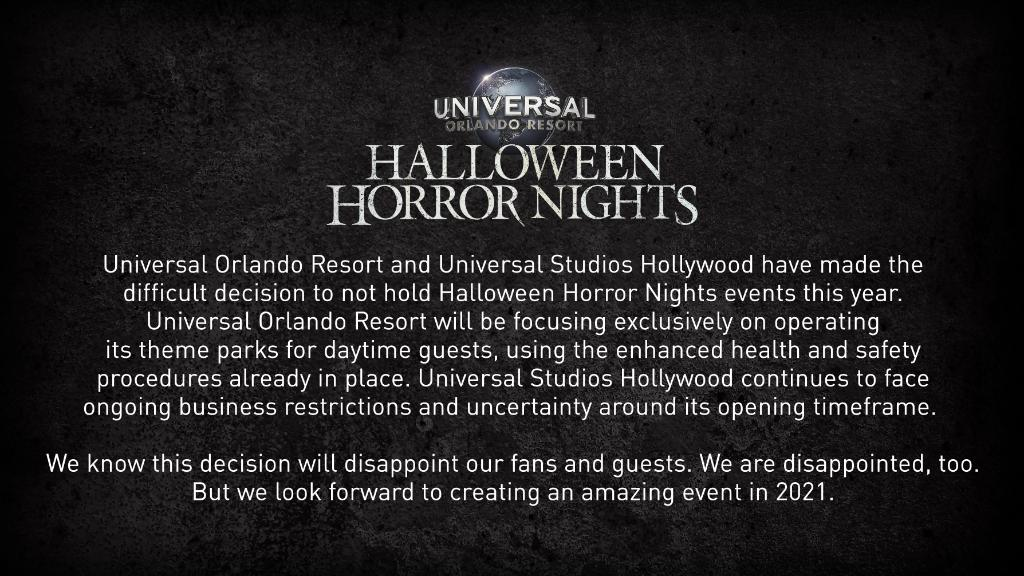 Halloween Horror Nights Express Pass 2020 BREAKING: Halloween Horror Nights Cancelled Due to COVID 19