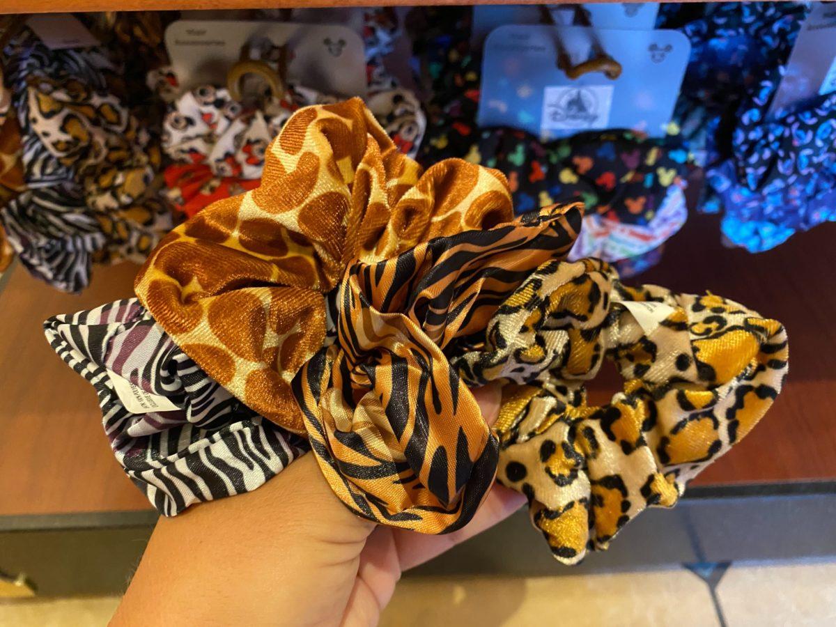 animal print scrunchies
