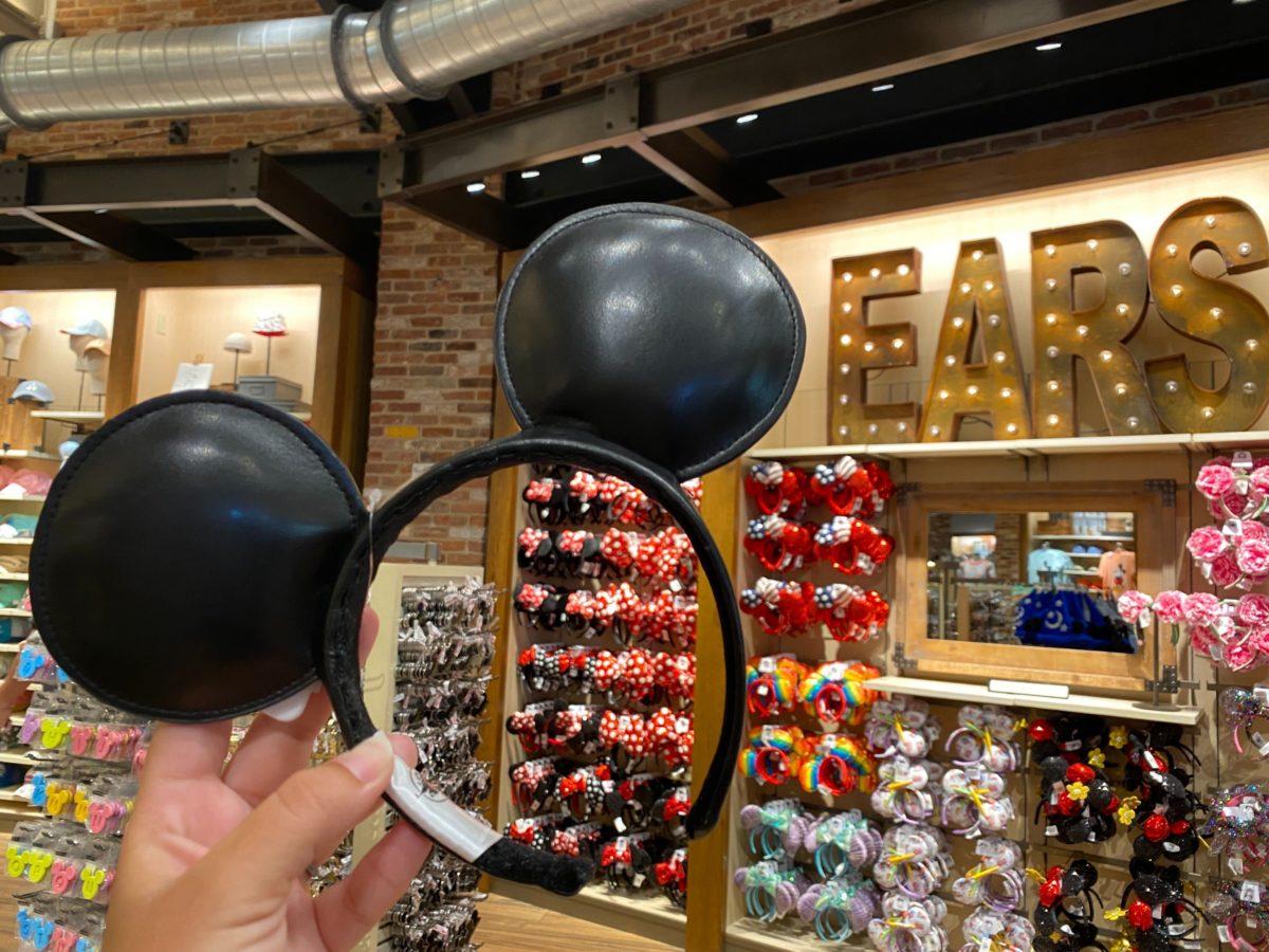 leather mickey ear headband