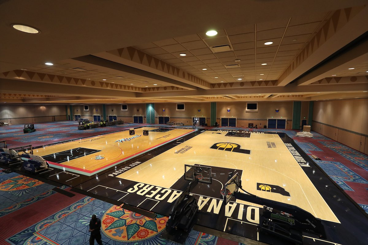 Photos New Nba Practice Courts Installed Inside Disney S Coronado Springs Resort Convention Center Wdw News Today