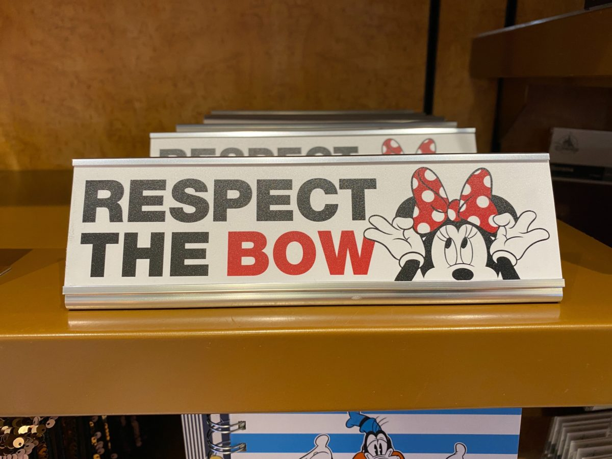 Respect the Bow name plate - $12.99
