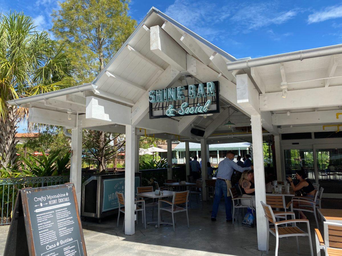 shine bar and social at disney springs