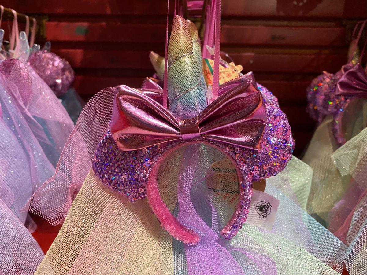 unicorn minnie ear headband ornament