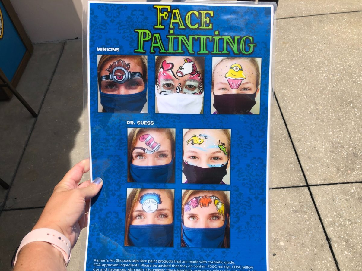 modified mask face painting at Universal Orlando